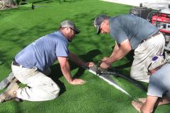 Motz Turf Farms artsynthetic turf yard install 4