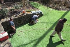 Motz Turf Farms synthetic turf yard install 5