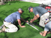 Motz Turf Farms artsynthetic turf yard install 4