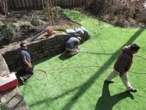 Motz Turf Farms synthetic turf yard install 5